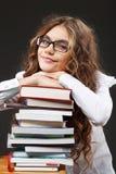 Schulmädchen mit Büchern Lizenzfreie Stockfotografie
