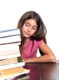Schulmädchen mit Lernenschwierigkeiten stockfoto