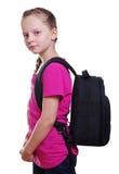 Schulmädchen mit Tasche Lizenzfreies Stockbild