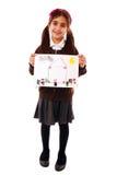 Schulmädchen mit Zeichnung Lizenzfreie Stockbilder