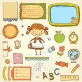Schulmädchen-Satz Lizenzfreie Stockfotografie