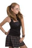 Schulmädchen verwirrt Stockfotos