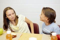 Schulmahlzeit - angewidert Lizenzfreie Stockfotos