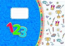 Schulnotizbuch horizontales gestreiftes A4 Stockbild