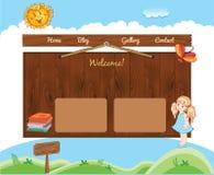 Schulschablone für Website Stockfotos