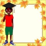 Schulschablonen-Einladungskarte Lizenzfreies Stockbild