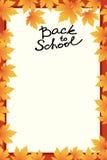 Schulschablonen-Einladungskarte Lizenzfreies Stockfoto