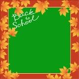 Schulschablonen-Einladungsplakat Lizenzfreies Stockbild