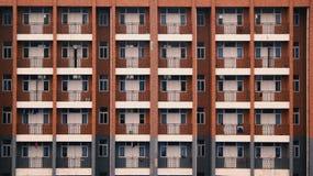 Schulschlafsaal Balkon-Fenster Gebäude Lizenzfreie Stockbilder