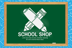 Schulshopdesign Stockfotos