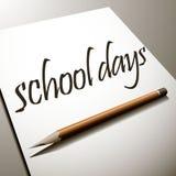 Schultage, zurück zu Schule Vektor Abbildung