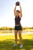 Schulterübungen Stockbild