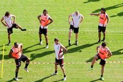 Schulungseinheit des AC Mailand-Teams Stockbilder