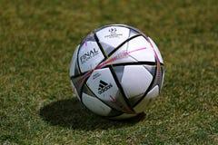Schulungseinheit FC Manchester City an Stadion I NSC Olimpiyskyi Lizenzfreie Stockfotos