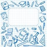 Schulvektorbriefpapierplakat-Schreibheftbriefpapier Stockbild