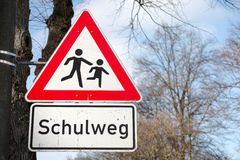 Schulweg 免版税库存图片