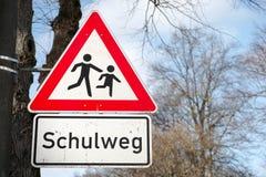 Schulweg Royalty Free Stock Image