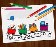 Schulwesen-Bedeutung, die Illustration der Organisations-3d schult Stockfoto