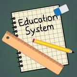 Schulwesen, das Schulungsorganisation 3d Illustra darstellt Stockfotos