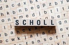 Schulwortkonzept lizenzfreie stockfotos