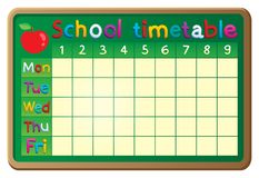Schulzeitplan-Themabild 2 Lizenzfreie Stockfotos