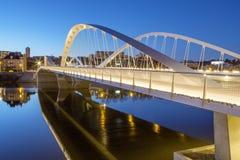 Schuman most nocą zdjęcie royalty free
