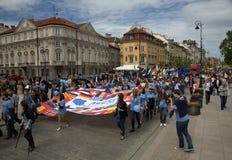Schuman-Parade in Warschau Stockfotos