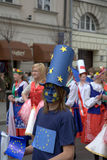 Schuman-Parade in Warschau Stockbild