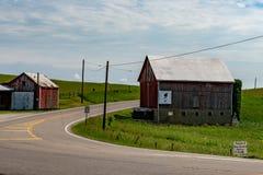 Schuren op Route 22 royalty-vrije stock fotografie