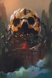 Schurk die zich voor de schedelbouw bevinden vector illustratie