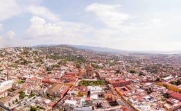 Schuss Sans Miguel de Allende Aerial stockfoto