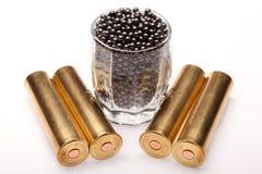 Schuss und Jagdmunitionen Stockfoto