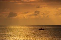 Schusses gebildet von der Phi-Phi Insel am Ende Februar Stockbild