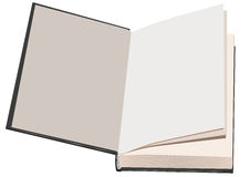 Schutblad open boek royalty-vrije illustratie