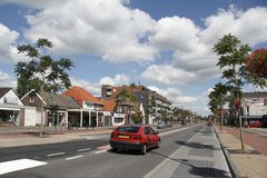 Schutstraat in Hoogeveen Royalty Free Stock Images