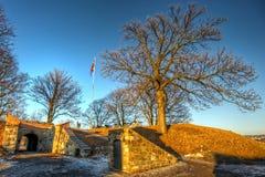 Schutz an Akershus-Festung Stockbild