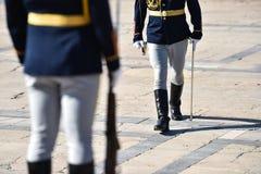 Schutz der Ehre während einer Militärzeremonie lizenzfreies stockbild