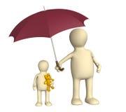 Schutz der Kindheit stock abbildung