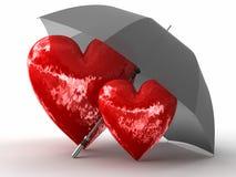 Schutz der Liebe Stockbild