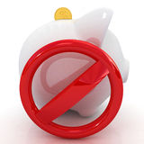 Schutz der Piggy Querneigung Stockbilder