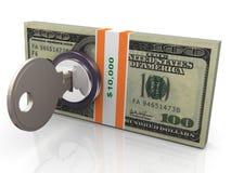 Schutz des Geldes 3d Stockfotografie