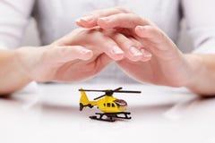 Schutz des Hubschraubers (Konzept) Stockfotografie