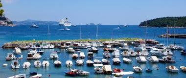 Schutz für Boote Stockbild