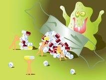 Schutz gegen Grippe Lizenzfreie Abbildung