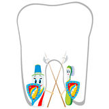 Schutz gegen zahnmedizinische Karies Stockfoto