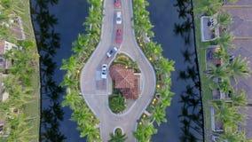Schutz House zu mit einem Gatter versehener Gemeinschaft Floridas Stockfotografie