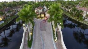 Schutz House zu mit einem Gatter versehener Gemeinschaft Floridas Lizenzfreies Stockfoto
