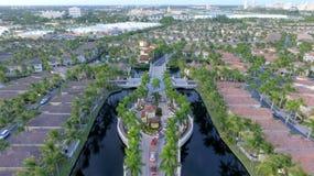 Schutz House zu mit einem Gatter versehener Gemeinschaft Floridas Lizenzfreies Stockbild
