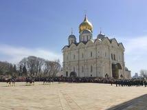 Schutz-Mounting-Parade in Moskau der Kreml Lizenzfreie Stockfotos