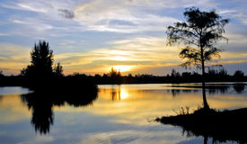 Schutz-Sonnenuntergang Lizenzfreie Stockbilder